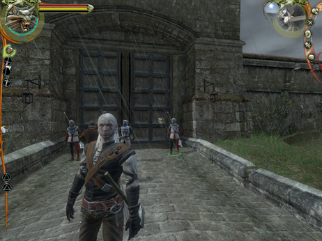 Geralt of Rivia, outside the gates of Vizima