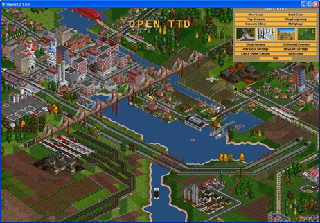 Open Transport Tycoon Deluxe 1.0.0 main menu