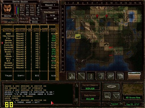 Jagged Alliance 2, strategic view