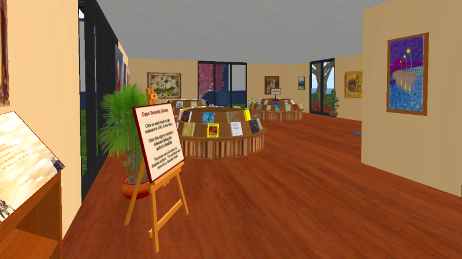 The Cape Serenity Library in Second Life