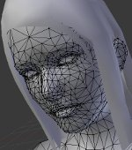 Image: An avatar's face with the mesh displayed.