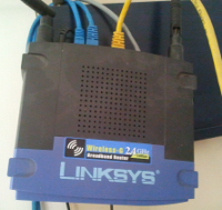 A LinkSys WRT54G wireless/wired router